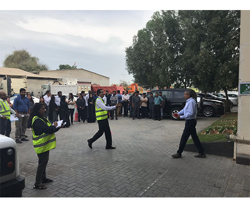 TTE conducts fire evacuation drill