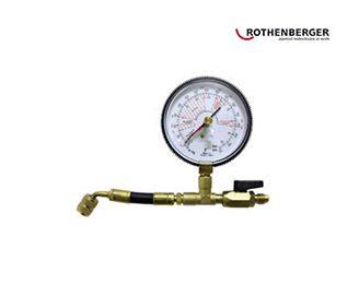 Rothenberger Filling Hose with Pressure Gauge
